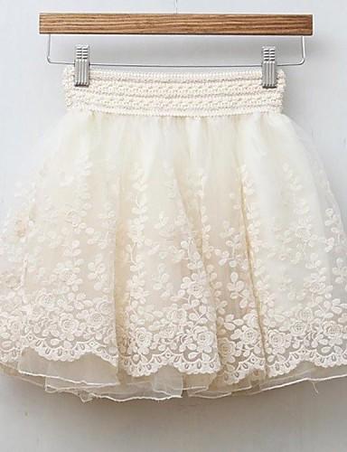 сплошной цвет Мода Тонкий юбки женские