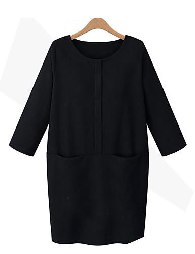 billige Dametopper-Bluse Dame - Ensfarget Grunnleggende Svart
