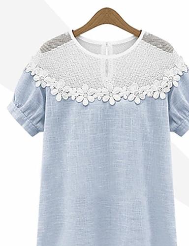 tanie Topy damskie-T-shirt Na co dzień Lato Codzienny Krótki rękaw