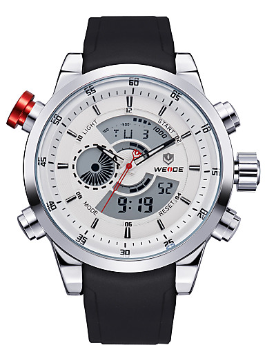 Herrn Quartz Armbanduhr Sportuhr LED Schlussverkauf PU Band Charme Freizeit Schwarz