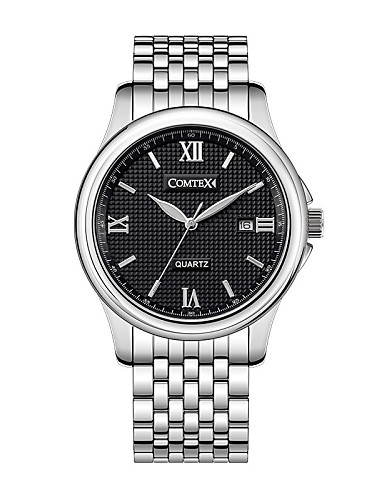 COMTEX SYM140059-1 business men strip quartz watch