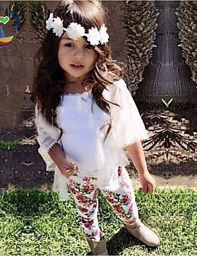 Genç Kız Çiçekli Tüm Mevsimler Uzun Kollu Kıyafet Seti Çiçek Karikatür Ekran Rengi