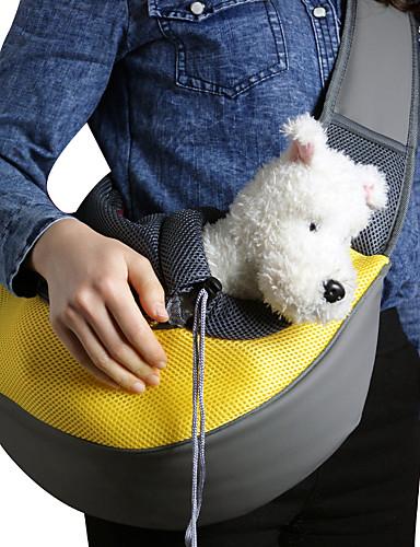 ราคาถูก Toys & Hobbies-แมว สุนัข ให้บริการ & เป้เดินทาง กระเป๋าสะพาย สัตว์เลี้ยง ตะกร้า สีพื้น Portable ระบายอากาศ สีเขียว ฟ้า สีชมพู สำหรับสัตว์เลี้ยง