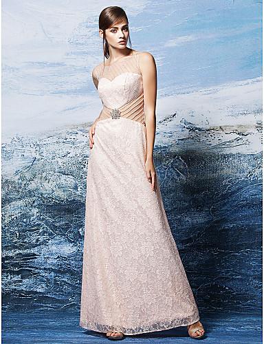 Tube / kolonne Gulvlang Blonder Skoleball Formell kveld Kjole med Blonder av TS Couture®