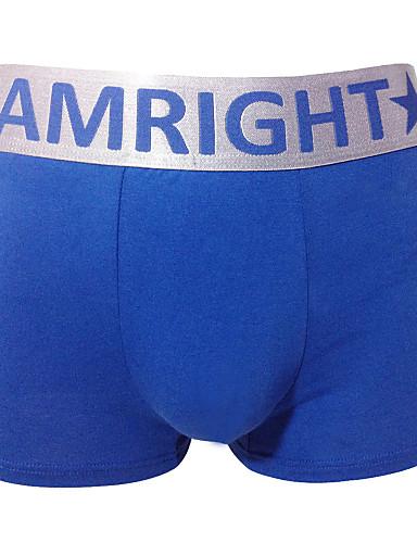 Am Right גברים כותנה / ספנדקס / צורני מכנסוני בוקסר 3 / תיבה-AWH053