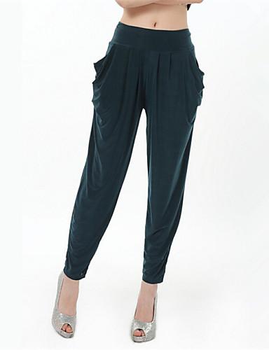 Kadın's Normal Bel Mikro-Esnek Harem Kotlar Pantolon Solid Yaz