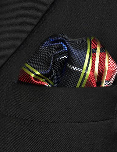 Męskie Imprezowa Podstawowy Sukienka prosta Krawat - Rayon, Wielokolorowa Pled