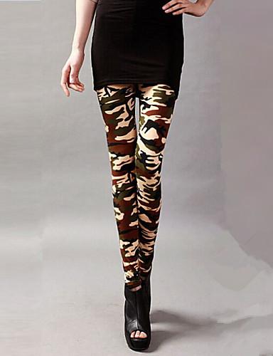 Women's Polyester Spandex Medium Legging Beige