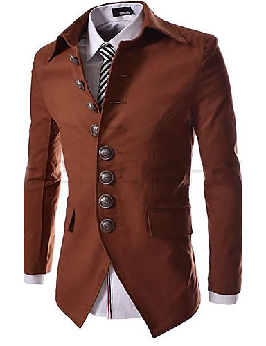 Men's Casual/Daily Regular Blazer, Solid Polyester