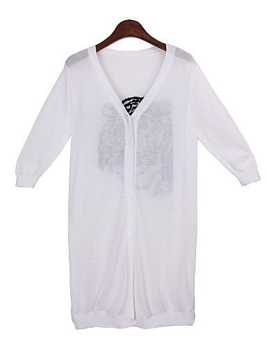 Women's Solid Colored White Sweaters