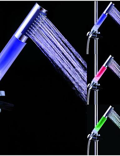 billige LED Dusjhoder-farge vann ledet dusjhode håndholdte dusj håndholdt dusjhode vannsparing