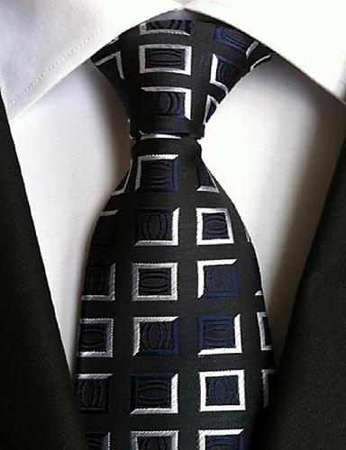 Herre Fest Kontor Grunnleggende Slips - Trykt mønster Polyester