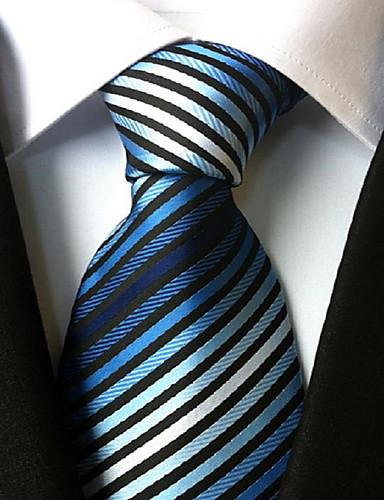 Herre Fest Kontor Grunnleggende Slips Stripet Polyester