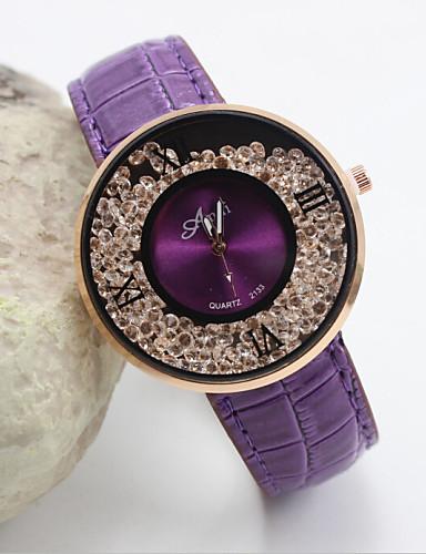Women's Quartz Wrist Watch Casual Watch Leather Band Elegant / Fashion Black / White / Red / Brown / Purple