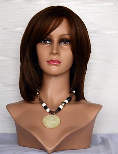 abordables Perruques Naturelles Dentelle-Perruque Cheveux Naturel humain Full Lace Cheveux Brésiliens Droit Femme Densité 120% avec des cheveux de bébé Cheveux Colorés Ligne de Cheveux Naturelle Perruque afro-américaine 100 % Tissée Main