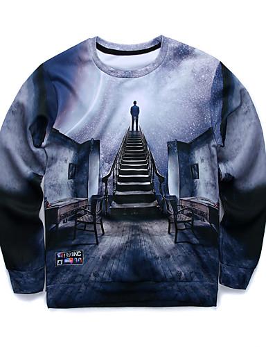 Heren Lange mouw Sweatshirt 3D Print