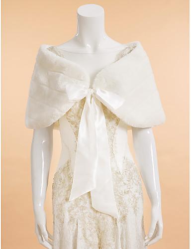 Sleeveless Faux Fur Wedding Party Evening Wedding  Wraps Capelets