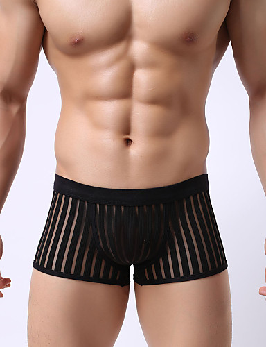 Mesh breathable sexy fringe perspective Boxer Shorts