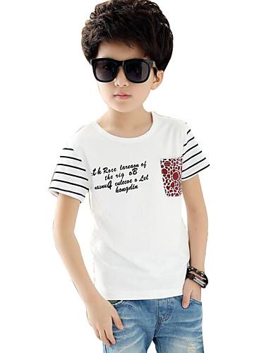 Dječakov Majica s kratkim rukavima Prugasti uzorak-Ljeto,Pamuk