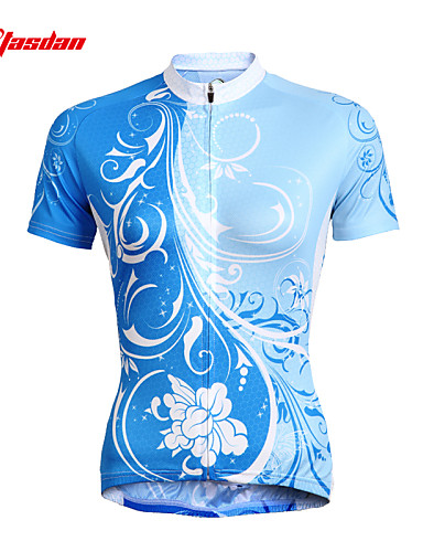 cheap Cycling Clothing-TASDAN Women's Short Sleeve Cycling Jersey Floral Botanical Plus Size Bike Jersey Top Clothing Suit Breathable Quick Dry Ultraviolet Resistant Sports 100% Polyester Mountain Bike MTB Road Bike Cycling