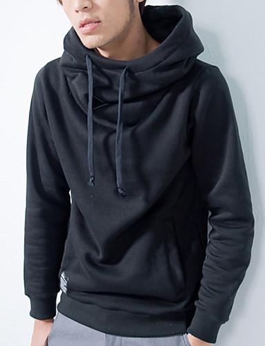Masculino Sets activewear Casual / Esporte Cor Solida Algodão / Poliéster Manga Comprida Masculino