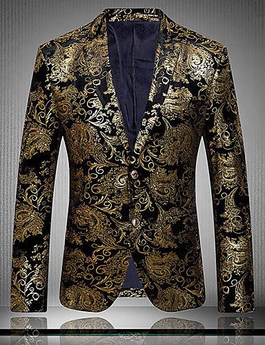 Men's Club Exaggerated Sophisticated Plus Size Cotton Slim Blazer Print