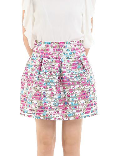 מעל הברך-דק-סגנון-חצאית(חוטי זהורית)