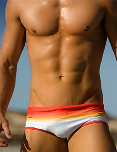 Homens Calcinhas, Shorts & Calças de Praia - Estampa Colorida, Estilo Moderno