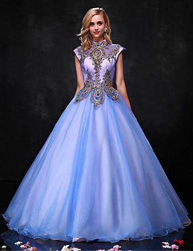 95e06cfdf9db С пышной юбкой   Принцесса Хальтер В пол Органза Винтажная коллекция  Торжественное мероприятие Платье с Бусины