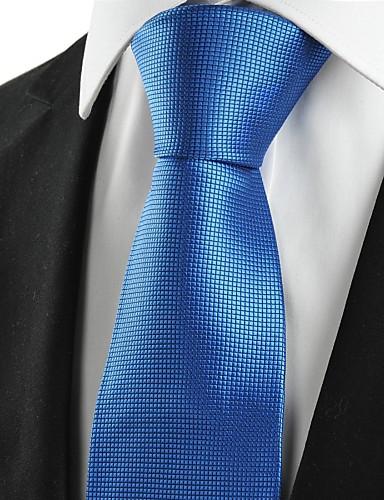 Herre Fest Kontor Grunnleggende Slips Rutet Bomull Rayon Polyester