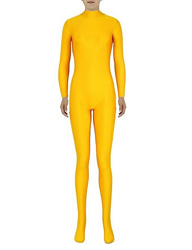 halpa Zentai-Zentai asut Kissapuku Ihon puku Ninja Aikuisten Spandex Lycra Cosplay-asut Sukupuoli Miesten Naisten Paljas / Tumman vihreä / Oranssi Yhtenäinen Halloween / Erittäin elastinen