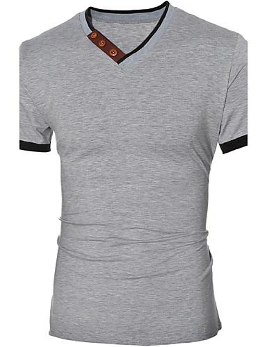 Herrn Solide - Retro T-shirt, V-Ausschnitt / Kurzarm