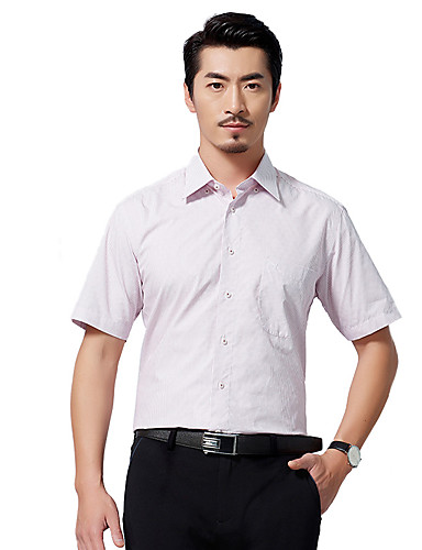 hét Brand® Férfi Állógallér Rövid ujjú Shirt és blúz Orange-704A3C8818