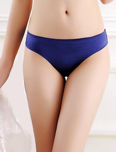 Damen Solide - Nahtlos Besonders sexy Höschen G-Strings & Tangas Niedrige Taillenlinie