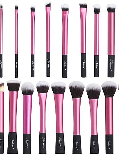 billige Sminkebørster-Profesjonell Makeup børster Børstesett 20pcs Høy kvalitet Supermyk Kunstig fiber børste Aluminium / Tre Sminkebørster til Sminkebørstesett