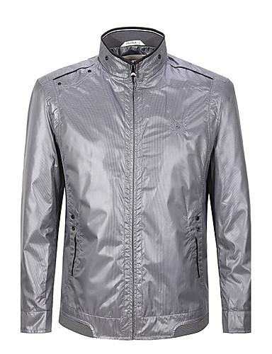 שבעה Brand® גברים עומד שרוולים ארוכים Jackets אפור כהה-702K205683