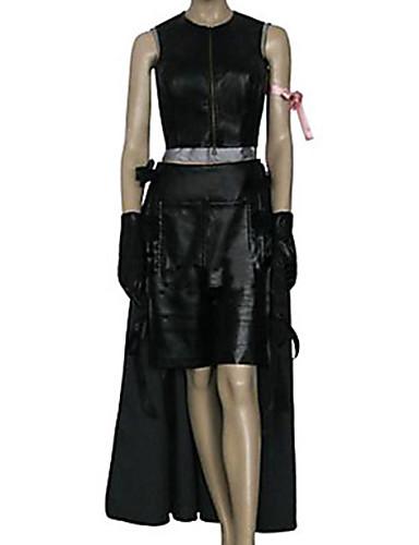 abordables Disfraces de Videojuegos-Inspirado por Final Fantasy Tifa Lockhart Vídeo Juego Disfraces de cosplay Trajes Cosplay Un Color Sin Mangas Top Falda Pantalones cortos Disfraces