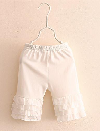 Mädchen Shorts-Lässig/Alltäglich Patchwork Baumwolle Sommer Schwarz / Weiß
