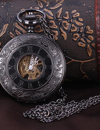 Муж. Карманные часы Механические часы С автоподзаводом Черный С гравировкой Аналоговый Роскошь Steampunk - Черный