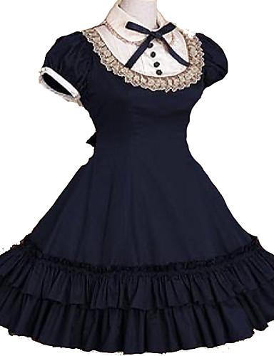 b836a9576a Szobalány öltözékek Hercegnő Gótikus Lolita Iskola Lolita Fodrozott Édes  Csipke Női Lány Ruhák Cosplay Piros / Kék / Rózsaszín Csapott Rövid ujjú  Térdig érő ...
