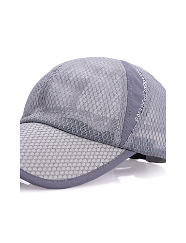 cheap Outdoor Clothing-Hiking Hat Ball Cap Hat Sunscreen Breathable Protective Cotton Nylon Spring for Men's Women's Unisex Baseball Outdoor Blue