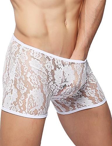 Männer sexy Kleidung Unterwäsche hochwertige Nylon Boxer solide weich
