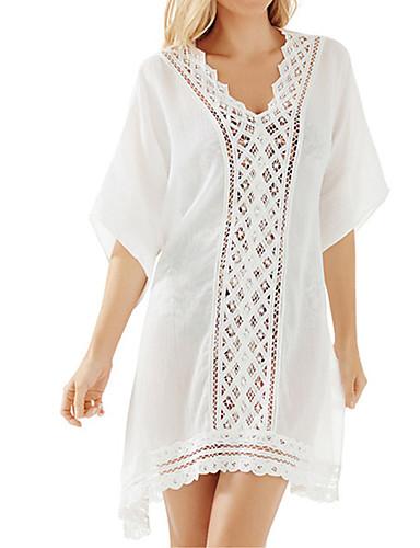 Damen Einteiler / Strandkleidung - Einfarbig Einzelteil Chiffon / Römisches Strickmuster Halfter
