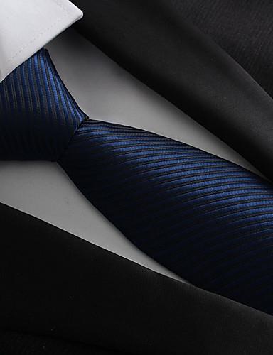 abordables Nœud Pap' & Cravates Essentiels de Bal de Promo-Homme Soirée / Travail / Basique Cravate Rayé