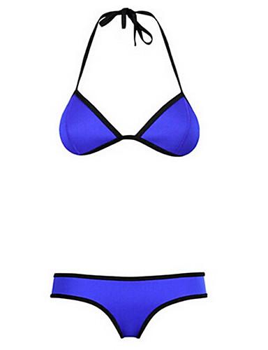 Mulheres Biquíni Sólido Nadador Elastano / Náilon Mulheres