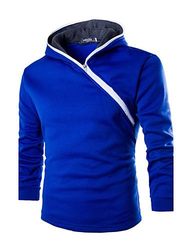 Herren Freizeit Activewear Sets - Einfarbig Lang Baumwolle / Polyester