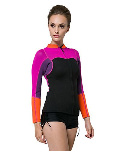 09829a97e3 SBART Women s Wetsuit Jacket 2mm Neoprene Top Thermal   Warm Long Sleeve  Diving Surfing Snorkeling Patchwork