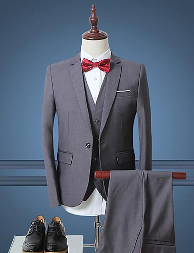 זול למסיבת החתונה חיסול-בגדי ריקוד גברים כחול כהה אפור Wine XXXXL XXXXXL XXXXXXL חליפות פשוט אחיד