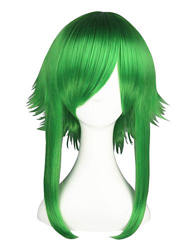 voordelige Cosplay Pruiken-Vocaloid Gumi Cosplaypruiken Heren Dames 22 inch(es) Hittebestendige vezel Groen Anime