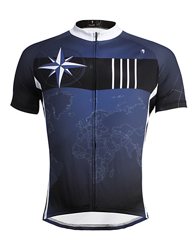 cheap Cycling Clothing-ILPALADINO Cycling Jersey Men's Short Sleeves Bike Jersey Top Bike Wear Quick Dry Ultraviolet Resistant Breathable Soft Reduces Chafing